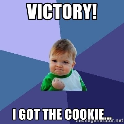 Success Kid - VICtORY! I got the cookie...