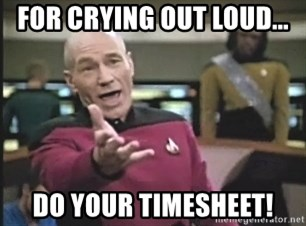 Captain Picard - For crying out loud... Do your timesheet!