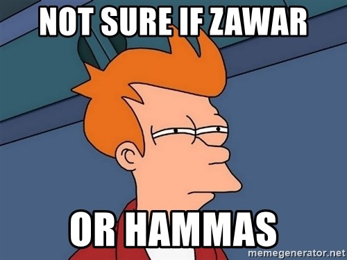 Futurama Fry - not sure if zawar or hammas