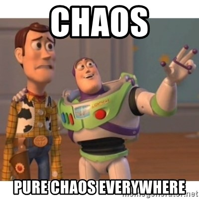 Toy story - chaos pure chaos everywhere