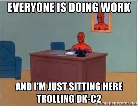 Spiderman Desk - EVERYONE IS DOING WORK AND I'M JUST SITTING HERE TROLLING DK-C2