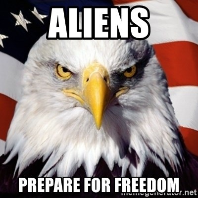 Freedom Eagle  - aliens prepare for freedom