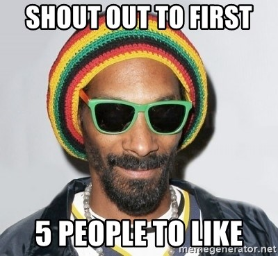 Snoop lion2 - Shout out to first  5 people to like
