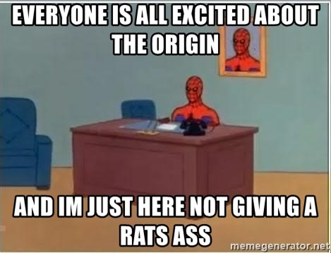 Spiderman Desk - Everyone is all excited about the origin and im just here not giving a rats ass