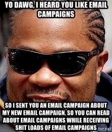 Xzibit - Yo Dawg, I heard you like email campaigns So i sent you an email campaign about my new email campaign, so you can read about email campaigns while receiving shit loads of email campaigns