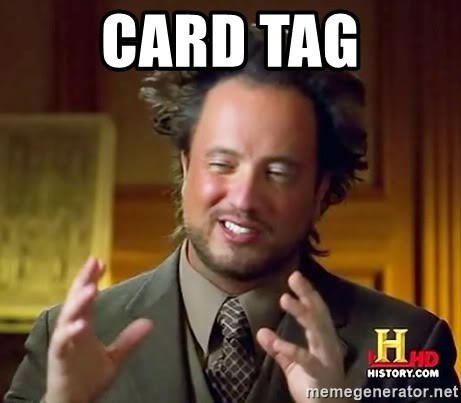 Ancient Aliens - Card Tag