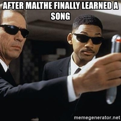 men in black - After malthe finally learned a song