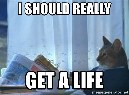 newspaper cat realization - I should really Get a Life