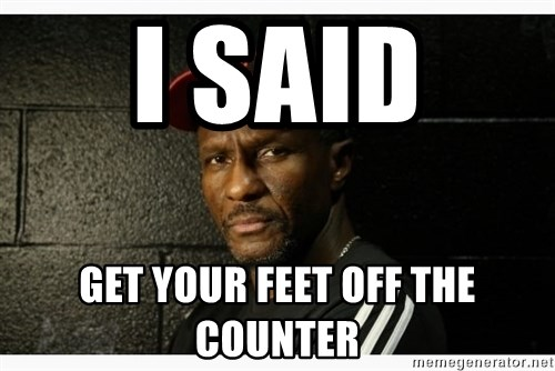 Dwane Casey's Guide to Smallball - I SAID  GET YOUR FEET OFF THE COunter