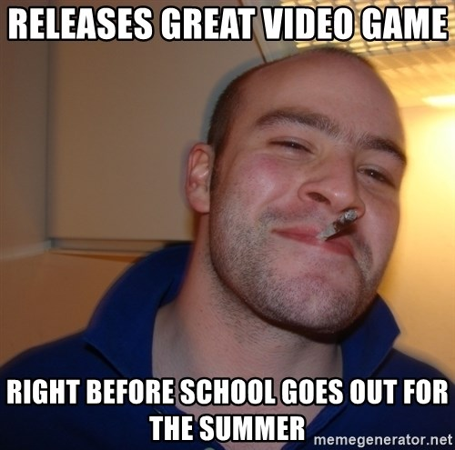 Good Guy Greg - RELEASES great video game  right before school goes out for the summer