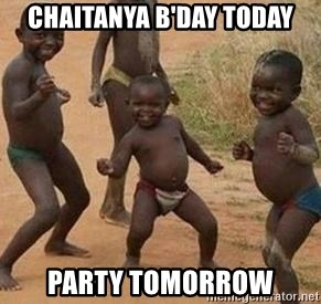 african children dancing - chaitanya b'day today Party tomorrow