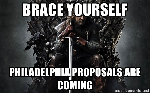Eddard Stark - brace yourself philadelphia proposals are coming