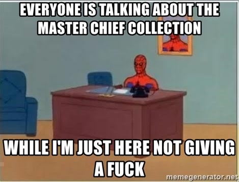 Spiderman Desk - Everyone is talking about the master chief Collection While I'm just here not giving a fuck