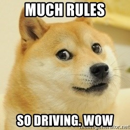 Dogeeeee - Much rules so driving. wow