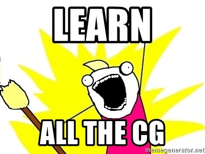 X ALL THE THINGS - learn all the cg
