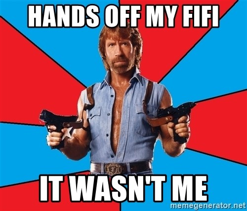 Chuck Norris  - Hands off my fifi It wasn't me