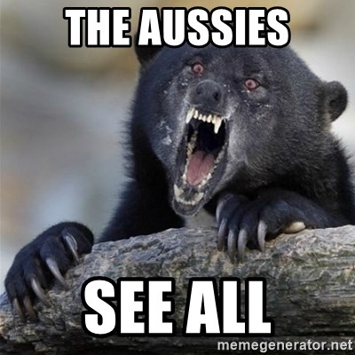 Insane Confession Bear - the aussies see all
