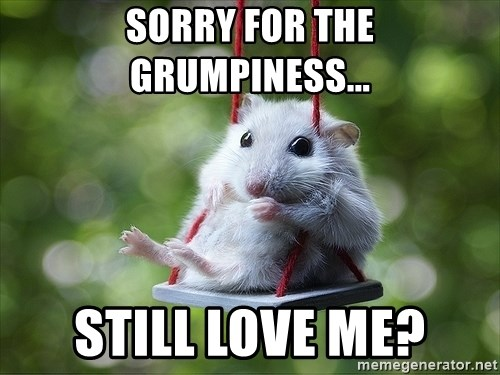 Sorry I'm not Sorry - Sorry for the grumpiness... Still love me?