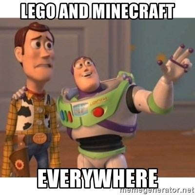 Toy story - Lego and minecraft everywhere