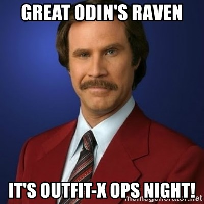 Anchorman Birthday - great odin's raven it's outfit-x ops night!