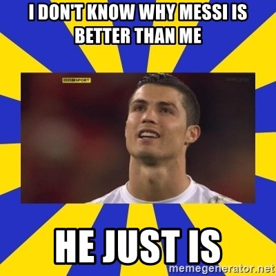 CRISTIANO RONALDO INYUSTISIA - I don't know why MESSI is better than me He just is
