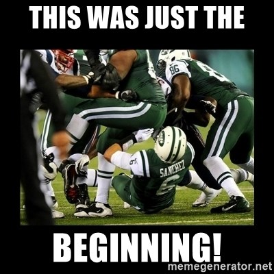 Mark Sanchez Butt Fumble - This was just the  beginning!