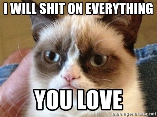 I Will Shit On Everything You Love Angry Cat Meme Meme Generator - 17 cats that are angry grumpy and fed up with everything