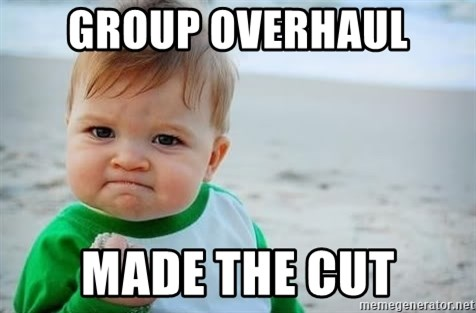 fist pump baby - Group Overhaul Made The cut