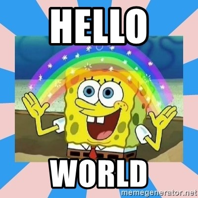 Spongebob Imagination - Hello  World