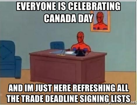 Spiderman Desk - EVERYONE IS CELEBRATING CANADA DAY AND IM JUST HERE REFRESHING ALL THE TRADE DEADLINE SIGNING LISTS