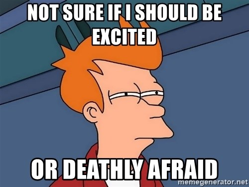 Futurama Fry - Not sure if I should be excited Or deathly afraid