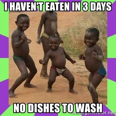 african kids dancing - I haven't eaten in 3 days no dishes to wash