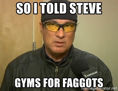 Steven Seagal Mma - so I told steve gyms for faggots
