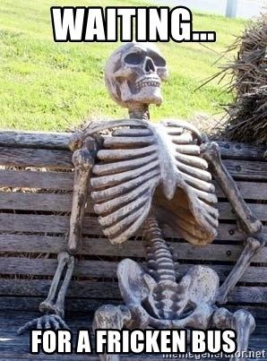 Waiting Skeleton - waiting... for a fricken bus