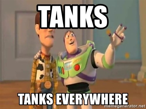 X, X Everywhere  - tanks tanks everywhere