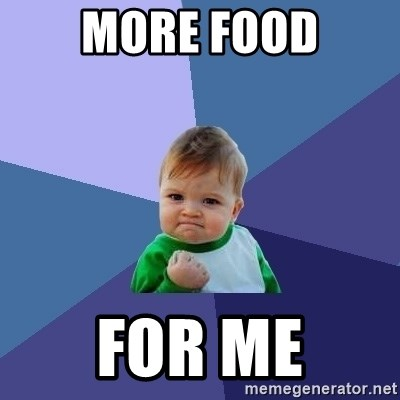 Success Kid - More food For me