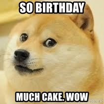 dogeee - So birthday Much Cake. Wow