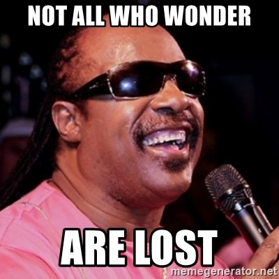 stevie wonder - not all who wonder are lost
