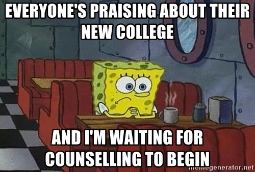 Coffee shop spongebob - Everyone's praising about their new college And i'm waiting for counselling to begin