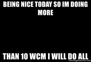 Blank Black - being nice today so im doing more than 10 wcm I will do all