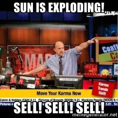 Mad Karma With Jim Cramer - Sun Is ExPloding! Sell! SELL! SELL!