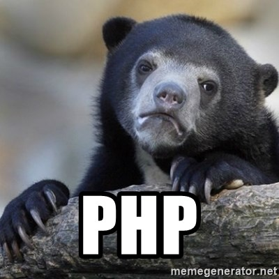 Confession Bear -  php