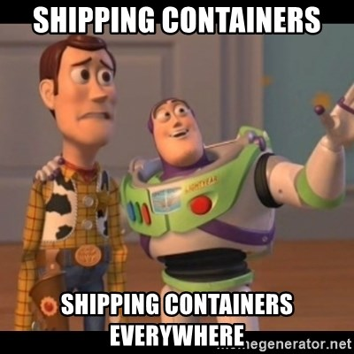 X, X Everywhere  - Shipping Containers Shipping Containers Everywhere
