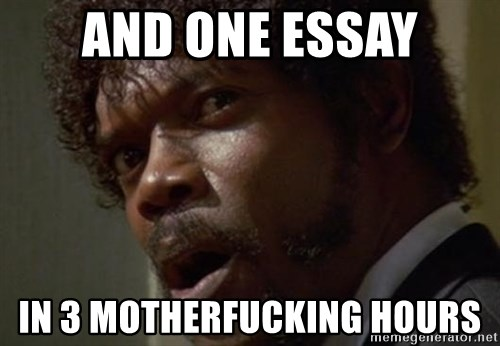 Angry Samuel L Jackson - and one essay in 3 motherfucking hours