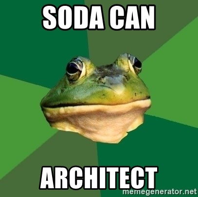 Foul Bachelor Frog - Soda can architect