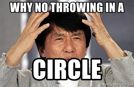 Jackie Chan - Why no throwing in a  circle