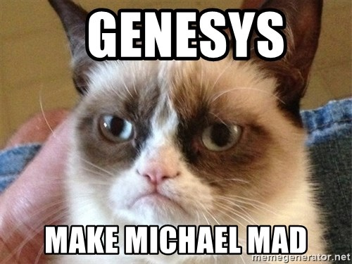 Angry Cat Meme -   GENESYS   MAKE MICHAEL MAD