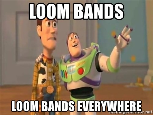 X, X Everywhere  - loom bands loom bands everywhere