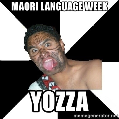 Maori Guy - maori language week yozza