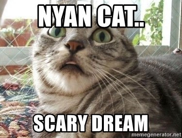 scared cat - nyan cat.. scary dream